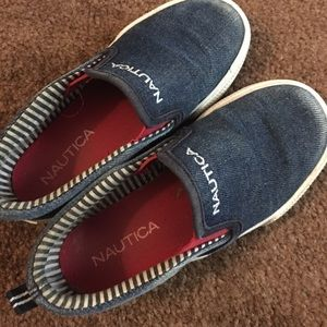 Nautica toddler boy slip-ons 11c
